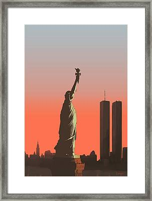 Liberty Framed Print by Mike Linman