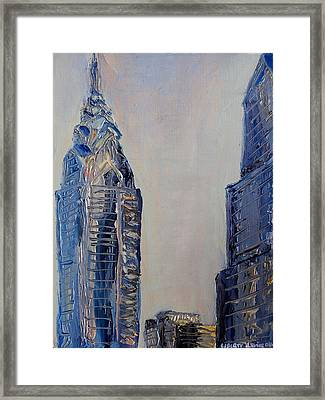 Liberty Place Framed Print by Joseph Levine