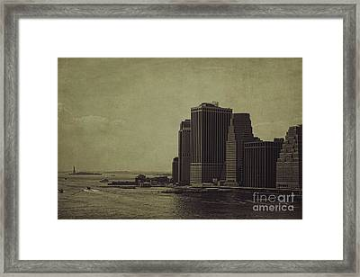 Liberty Scale Framed Print by Andrew Paranavitana