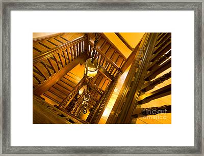 Liberty Stairwell Framed Print by Donald Davis