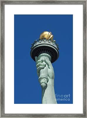 Liberty Torch Framed Print by Brian Jannsen