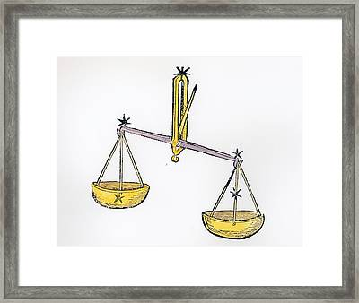 Libra An Illustration From The Poeticon Framed Print by Italian School