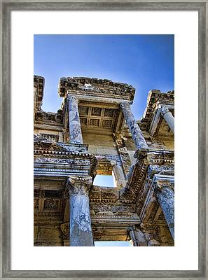 Library Of Celsus Framed Print by David Smith