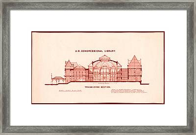 Library Of Congress Design 1877 Framed Print by Mountain Dreams