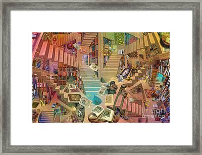 Library Of The Mind Art Framed Print by Garry Walton