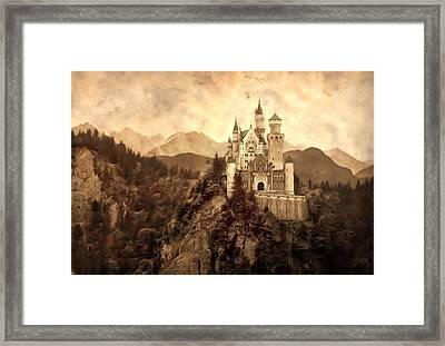 Lichtenstein Castle Framed Print by Dan Sproul