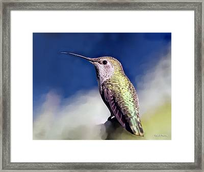 Lick Your Lips Framed Print by Angela A Stanton