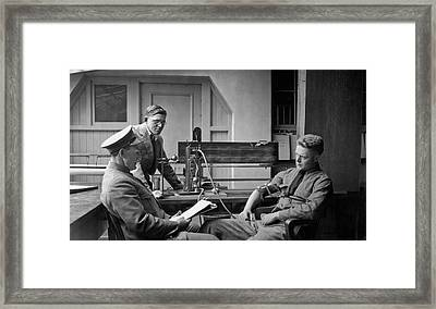 Lie Detector Test Framed Print by Underwood Archives