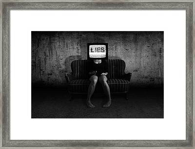 Lies Framed Print by Nicklas Gustafsson