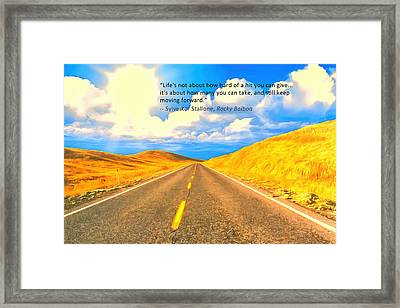 Life Framed Print by Anthony Caruso