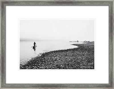 Life At Mekong River Framed Print by Setsiri Silapasuwanchai