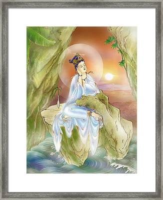Life-extending Kuan Yin Framed Print by Lanjee Chee
