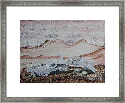 Life From Death In The Desert Framed Print by Ian Donley