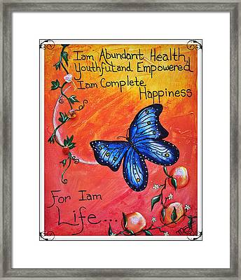 Life - Healing Art Framed Print by Absinthe Art By Michelle LeAnn Scott