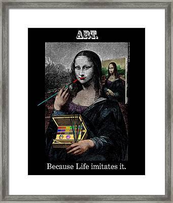 Life Imitates Art Framed Print by Eric Edelman