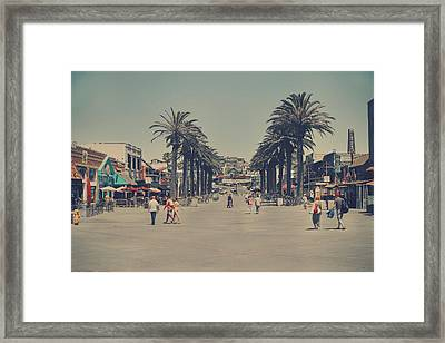 Life In A Beach Town Framed Print by Laurie Search