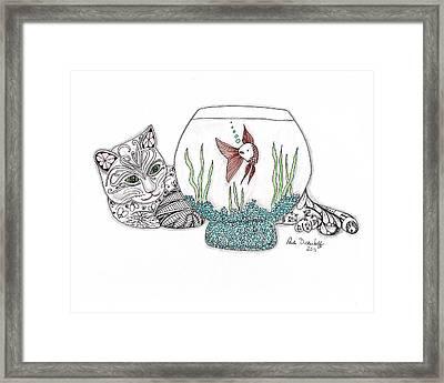 Life In A Bowl Framed Print by Paula Dickerhoff