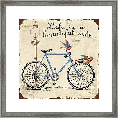 Life Is A Beautiful Ride Framed Print by Jean Plout