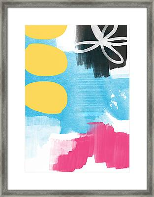 Life Is A Celebration-abstract Art Framed Print by Linda Woods