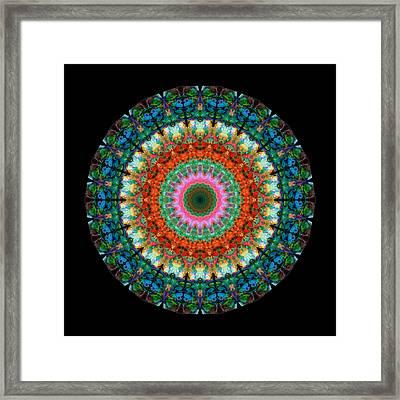 Life Joy - Mandala Art By Sharon Cummings Framed Print by Sharon Cummings