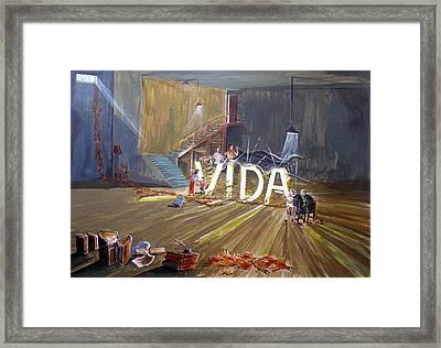 Life Framed Print by Lazaro Hurtado