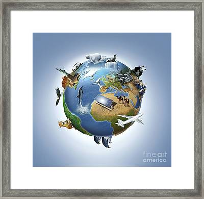 Life On Earth, Conceptual Image Framed Print by Wieslaw Smetek