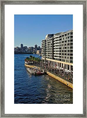 Life On Sydney Harbour Foreshores Framed Print by Kaye Menner