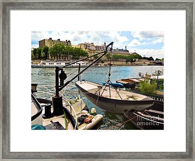 Life On The Seine Framed Print by Lauren Leigh Hunter Fine Art Photography