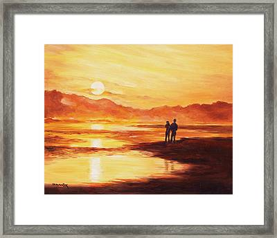 Life Together Framed Print by Becky Kim