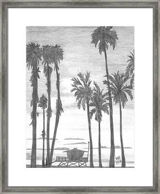 Lifeguard 16 Framed Print by Ray Ratzlaff