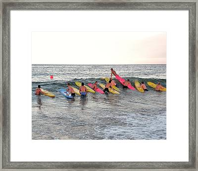 Lifeguard Competition Framed Print by Kim Bemis