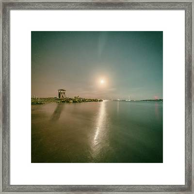 Lifeguard Post Framed Print by Stelios Kleanthous