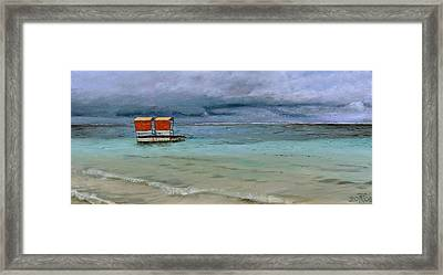 Lifeguard Station, Mauritius Framed Print by Trevor Neal