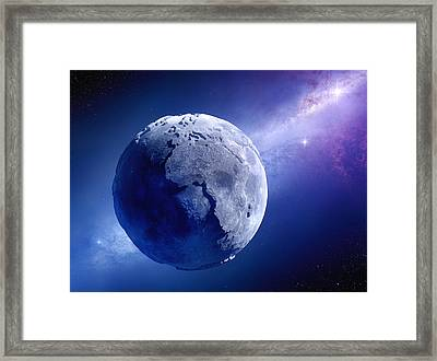 Lifeless Earth Framed Print by Johan Swanepoel