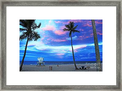 Life's A Beach Framed Print by Alison Tomich