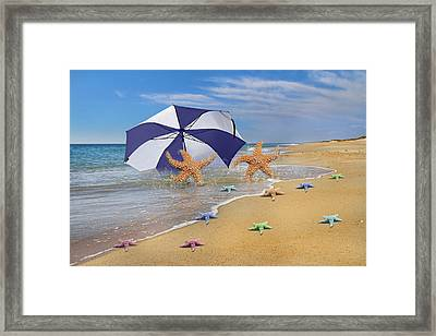 Life's A Beach Framed Print by Betsy C Knapp