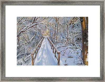 Life's  Path Framed Print by Sharon Duguay