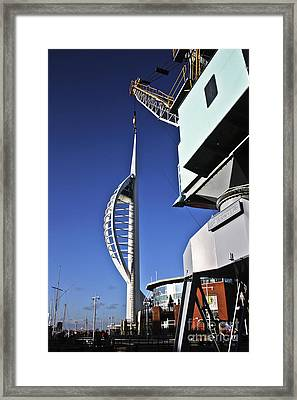 Lifting Portsmouth's Spinnaker Tower Framed Print by Terri Waters