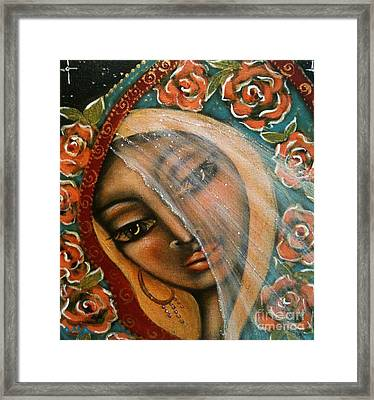 Lifting The Veil Framed Print by Maya Telford