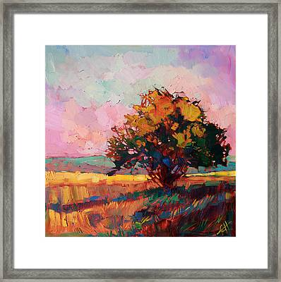 Light Alone Framed Print by Erin Hanson