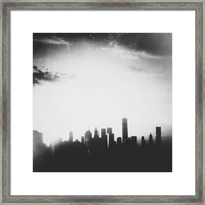 Light And Shadow Shades Of Grey Framed Print by Natasha Marco