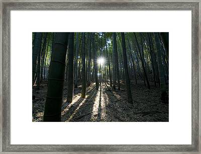 Light At The End Framed Print by Aaron S Bedell