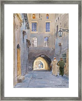 Light At The End Of The Tunnel, 2010 Wc On Paper Framed Print by Lucy Willis