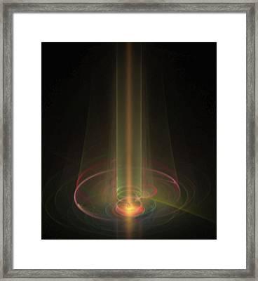 Light Beam Fractal Framed Print by Gina Lee Manley