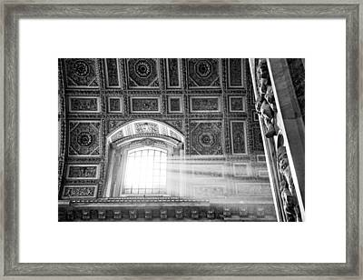 Light Beams In St. Peter's Basillica Framed Print by Susan  Schmitz