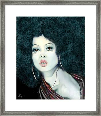 Light Blue Diana Ross-2a Framed Print by Reggie Duffie