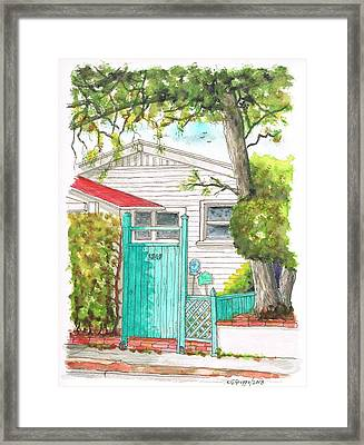 Light Blue Door In Hollywood - California Framed Print by Carlos G Groppa