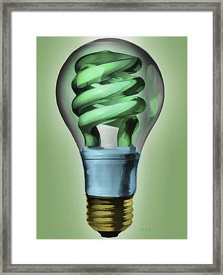 Light Bulb Framed Print by Bob Orsillo
