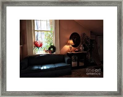 Light By The Window Framed Print by John Rizzuto
