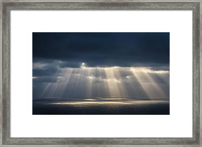 Light Dancing On Water Framed Print by Alexander Kunz
